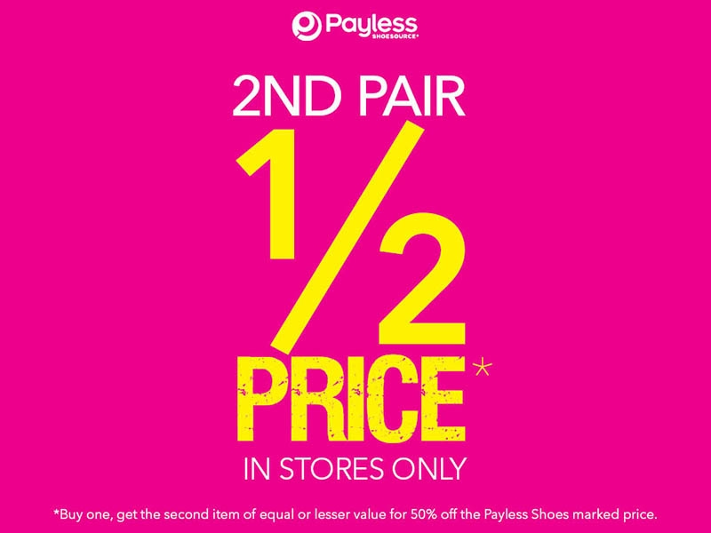 Payless Shoes Buy 1 Pair Get 2nd Pair Half Price | Ashfield Mall